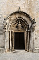 Croatia  Korcula island  Korcula old town  Cathedral of St Mark Sveti Marko
