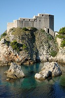 Croatia, Dubrovnik  Lovrijenac fortress at the coast