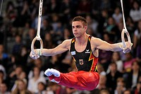 Thomas Taranu, GER, on the rings, EnBW Gymnastics World Cup 2010, 28th DTB_Cup, Stuttgart, Baden_Wuerttemberg, Germany, Europe