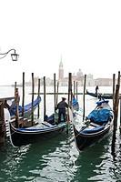 Gondolas near Piazza San Marco square, Venice, Italy, Europe