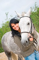 beautiful girl and horse.