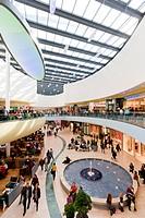 Rhein-Galerie, a modern shopping mall, people, Ludwigshafen am Rhein, Rhineland-Palatinate, Germany, Europe