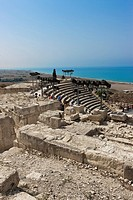 Ruins of Kourion, excavation site of ancient Kourion, Graeco-Roman amphitheatre, Odeon, Sanctuary of Apollo Hylates, Akrotiri peninsula, near Episkopi...