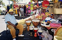 Vendor sleeping, Saint Paul market, La Reunion island (France), Indian Ocean