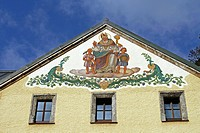 Decorated building facade, Berchtesgaden, Bavaria, Germany, Europe
