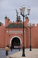 City wall, gate, Marrakech, Morocco, Africa
