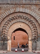 Bab Agnaou city gate, Marrakech, Morocco, Africa