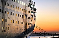 Cruise ship at La Goulette, Tunis, Tunisia