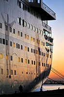 Cruise ship at La Goulette, Tunis, Tunisia