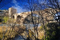 San Martín bridge over the Tajo river in Toledo Castilla la Mancha Spain