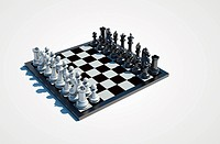chessboard on white background