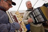 Italy, Bressanone, Brixen, playing accordion