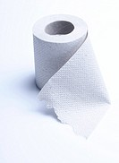 Gray toilet paper made of waste paper