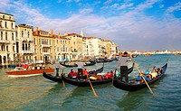 Venice  Gondola on the Grand Canal at St Marks  Italy