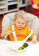 Little boy in the kitchen