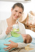 Woman breastfeeding a baby