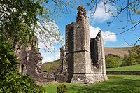 Ruined chapel of Llanthony Priory, Vale of Ewyas, Black Mountains, Brecon Beacons National Park, Powys, mid-Wales, Wales, United Kingdom, Europe