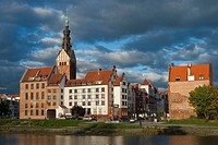 Elblag, with St. Nicholas Church, Katedra Sw. Mikolaja, Warmian-Masurian Voivodeship, Poland, Europe