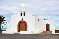 Chapel in Tiagua, Lanzarote, Canary Islands, Spain, Europe