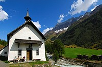 Kuehmatt Chapel, Blatten, Loetschental, Valais, Switzerland, Europe