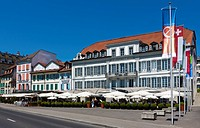 Angleterre and Residence Hotel, Lausanne, canton of Vaud, Lake Geneva, Switzerland, Europe