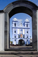 Igreja da Misericordia church in Angra do Heroismo, Unesco World Heritage Site, island of Terceira, Azores, Portugal