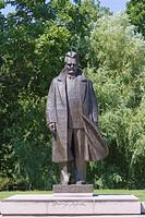 Andrejs Upitis monument, Kronvalda Parks, Kronvalds Park, Riga, Latvia, Northern Europe