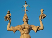 The Imperia statue, shows a woman holding the emperor and the pope on her hands, symbolic display of the immoral behavior of the rulers at the Council...