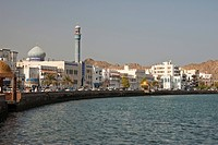 View of the Corniche in Muttrah, Oman, Middle East