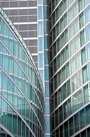 Modern building glass facades geometry