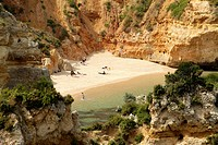 Beach Praia do Camilo in Lagos, Algarve, Portugal, Europe