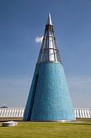 Pyramid on the roof terrace, Bonn Museum of Modern Art, Bonn, Rhineland region, North Rhine-Westphalia, Germany, Europe