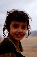 Portrait of a bedouin girl, Rum village, Wadi Rum, Jordan, Middle East