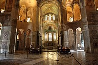 Mosaics on the wall and domed roof of Basilica di San Vitale in Ravenna, Emilia-Romagna, Italy