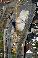 Aerial view, Exzenterhaus building, Universitaetsstrasse street, Querenburger Strasse street 23, Bochum, Ruhr area, North Rhine-Westphalia, Germany, E...