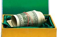 Many money in green box