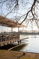 Seeterrasse, Restaurant Pier 51, cafe, Maschsee lake, Hannover, Lower Saxony, Germany, Europe