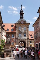 Old town hall, Bamberg, Upper Franconia, Franconia, Bavaria, Germany, Europe