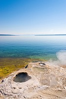 Lake Shore geyser in Yellowstone National Park