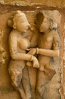 Erotica sculpture of Khandariya Mahadev temple at Khajuraho , Madhya Pradesh , India