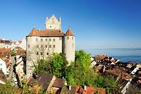 Meersburg Castle, Meersburg, lake Constance, Baden_Wuerttemberg, Germany
