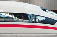 ICE, Germany´s high speed intercity express train at Munich train station  Germany