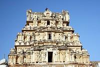 Top of Virupaksha temple Rayagopura , Hampi Vijayanagar ruins , Karnataka , India