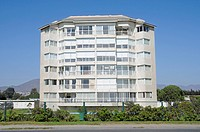 High-rise, apartment block, promenade, La Serena, Norte Chico, Northern Chile, Chile, South America