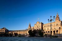 Plaza de EspaOÌ€a, Seville, Spain