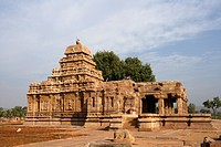 Sangameshvara Temple , Pattadakal , UNESCO World Heritage site, Chalukya , District Bagalkot , Deccan plateau, Karnataka , India