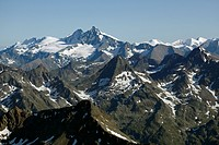 Schober group, Schobergruppe, Mt Grossglockner, aerial photo, Tyrol, Carinthia, Austria, Europe