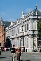 Belgium, Bruges, Breidel Street, street scene.