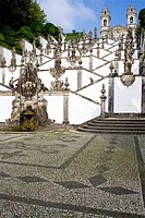 Bom Jesus do Monte Sanctuary in Braga, Portugal  One of the most famous Portuguese sanctuaries  Baroque architecture