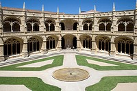 Jer&#243;nimos monastery in Lisbon, Portugal  Classified as UNESCO World Heritage it stands as the best example of the Manueline art
